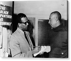 Stanley S. Scott Interviewing Stokely Acrylic Print by Everett