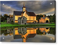 Acrylic Print featuring the photograph Star Barn by Dan Myers