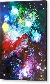 Star Clusters Acrylic Print by Sally Trace
