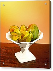 Star Fruit And Mango Acrylic Print by Michelle Wiarda