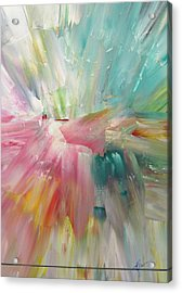 Acrylic Print featuring the painting Star by Kathy Sheeran