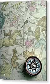 Star Map And Compass Acrylic Print by Garry Gay