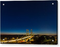 Star Night Over The Narrows Acrylic Print by Ken Stanback
