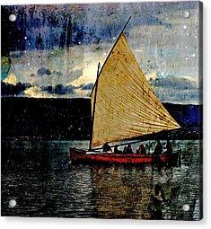Star Ship Acrylic Print by Michele Cornelius