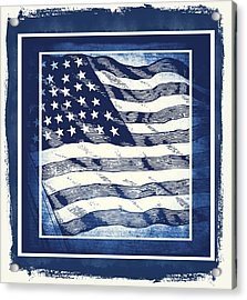 Star Spangled Banner Blue Acrylic Print by Angelina Vick