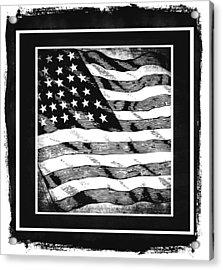 Star Spangled Banner Bw Acrylic Print by Angelina Vick