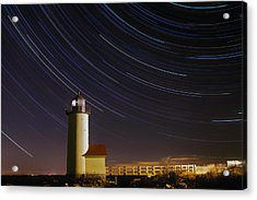 Star-trails Over Annisquam Lighthouse Acrylic Print