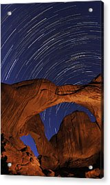 Star Trails Over Double Arch Acrylic Print