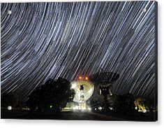 Star Trails Over Parkes Observatory Acrylic Print by Alex Cherney, Terrastro.com