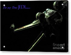 Star Wars Jedi Card Acrylic Print by Micah May