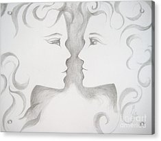Acrylic Print featuring the drawing Staredown by Marat Essex