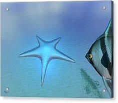 Acrylic Print featuring the digital art Starfish by John Pangia