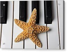 Starfish Piano Acrylic Print by Garry Gay