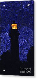 Starry Night Light Acrylic Print by Linda Mesibov