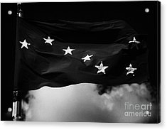 Starry Plough Flag Irish National Liberation Army Inla Ireland Acrylic Print by Joe Fox