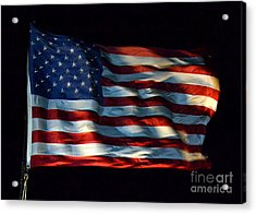 Stars And Stripes At Night Acrylic Print