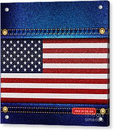 Stars And Stripes Denim Acrylic Print