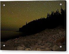 Stars Over Otter Cliffs Acrylic Print