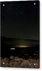 Acrylic Print featuring the photograph Stars Over Otter Cove by Brent L Ander