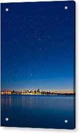 Stars Over Vancouver, Canada Acrylic Print by David Nunuk