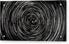 Startrails With Polaris At Center Acrylic Print by Cristian Mihaila
