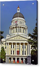 State Capitol Building Sacramento California Acrylic Print by Christine Till