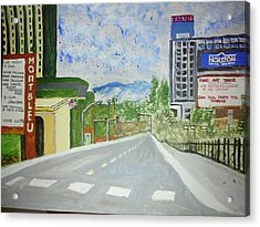 Acrylic Print featuring the painting Stateline At Lake Tahoe by Carol Duarte