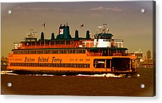 Acrylic Print featuring the photograph Staten Island Ferry by Nancy De Flon