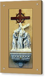 Station Of The Cross 02 Acrylic Print by Thomas Woolworth