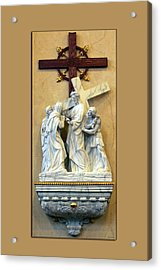Station Of The Cross 04 Acrylic Print by Thomas Woolworth