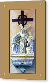 Station Of The Cross 08 Acrylic Print by Thomas Woolworth