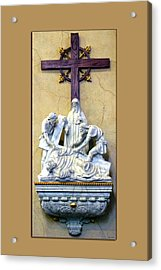 Station Of The Cross 09 Acrylic Print by Thomas Woolworth