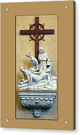 Station Of The Cross 11 Acrylic Print by Thomas Woolworth