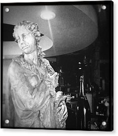 Statue And Wine Acrylic Print