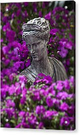Statue In The Garden Acrylic Print by Garry Gay