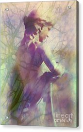 Statue In The Garden Acrylic Print by Judi Bagwell