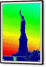 Statue Of Liberty-1 Acrylic Print by Anand Swaroop Manchiraju