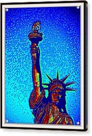 Statue Of Liberty-5 Acrylic Print by Anand Swaroop Manchiraju