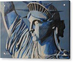 Statue Of Liberty Acrylic Print by Nedunseralathan R