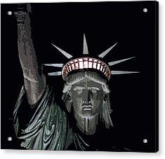 Statue Of Liberty Poster Acrylic Print by David Pringle