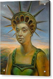 Statue Of Liberty Still Alive Acrylic Print by Jiri Mesicki