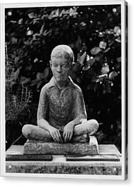 Statue Of Louis Braille In Bermudas Acrylic Print by Everett