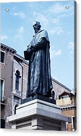 Statue Of Paolo Sarpi, Venetian Scientist Acrylic Print by Sheila Terry