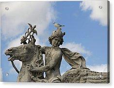 Statue . Place De La Concorde. Paris. France Acrylic Print