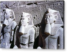 Statues Of Ramses II Acrylic Print by Granger