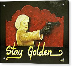 Stay Golden Acrylic Print by Matthew Powell