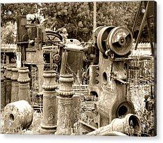 Steam Junkyard Acrylic Print by Roberto Alamino