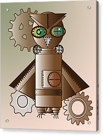 Steam Punk Robot Owl Acrylic Print
