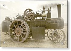Steam Tractor Acrylic Print by Kevin Felts