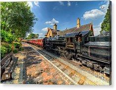 Steam Train Acrylic Print by Adrian Evans
